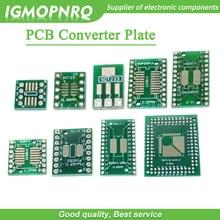 10pcs PCB Board SOP8 SOP14 SOP16 SOP20 SOP24 SOP28 QFP FQFP TQFP Turn To DIP Adapter Converter Plate TSSOP 8 14 16 20 24 28