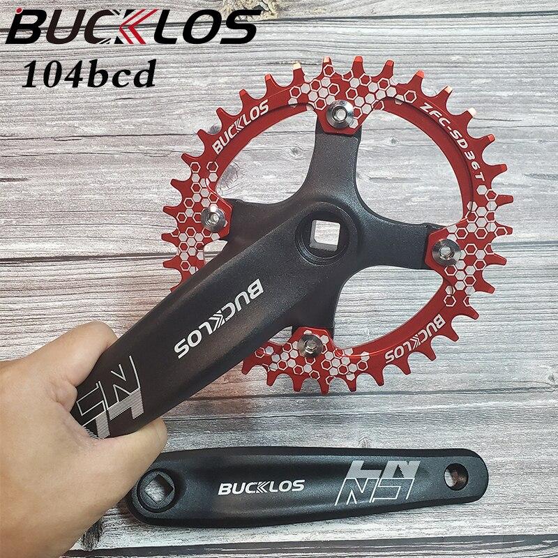 AliExpress - BUCKLOS 104BCD MTB Bike Crankset Aluminum Alloy 170mm Crank Narrow Wide Chainring 32/34/36/38/40/42T Bicycle Crankset Part