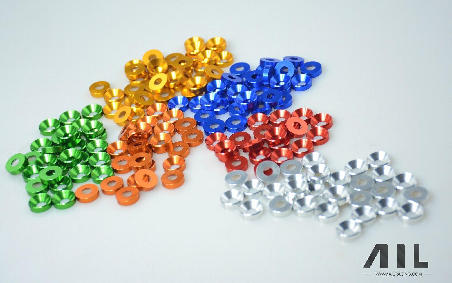 M5 tornillo de cabeza avellanada Junta aleación de aluminio 6061 Cnc piezas de coche Gasketrc