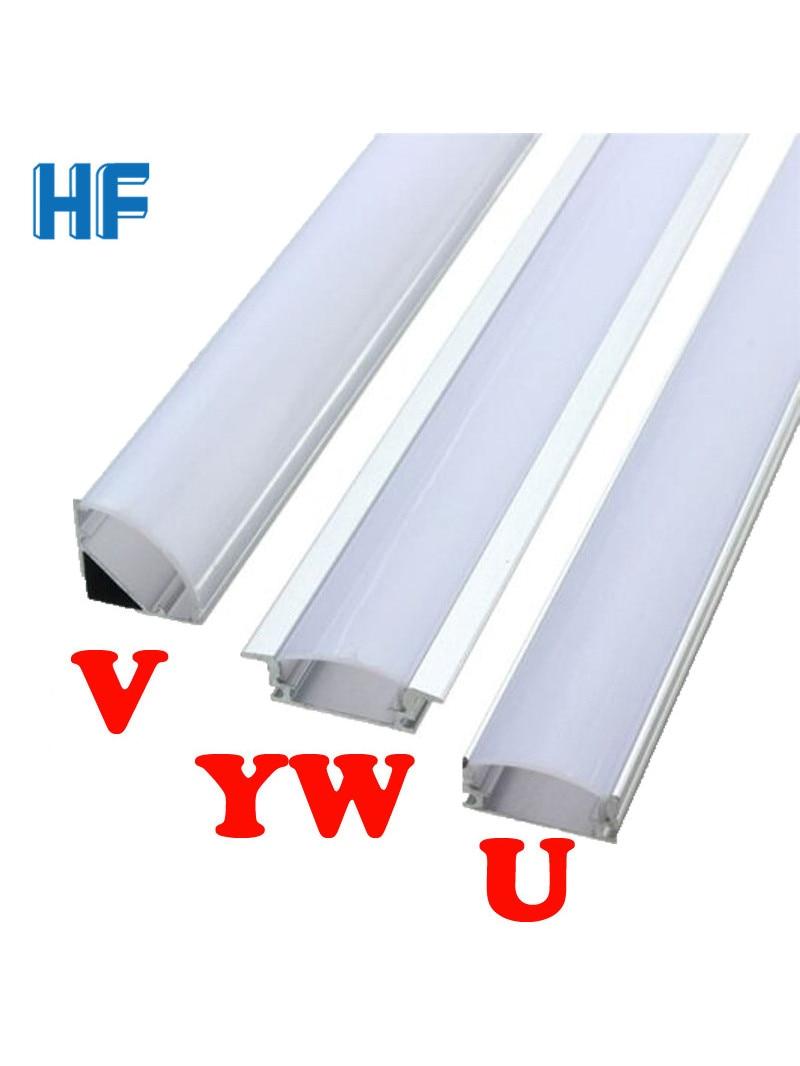 U V YW Corner Aluminium Profile Channel Holder for LED Strip Light Bar Under Cabinet Lamp Kitchen Closet