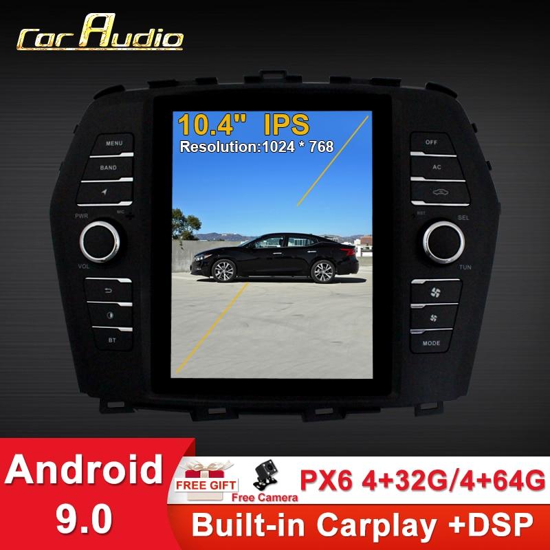 """Audio de coche 10,4 """"Telsa estilo Vertical pantalla Android 9,0 Radio de coche para NISSAN Maxima 2016- Auto GPS navegación coche Multimedia"""