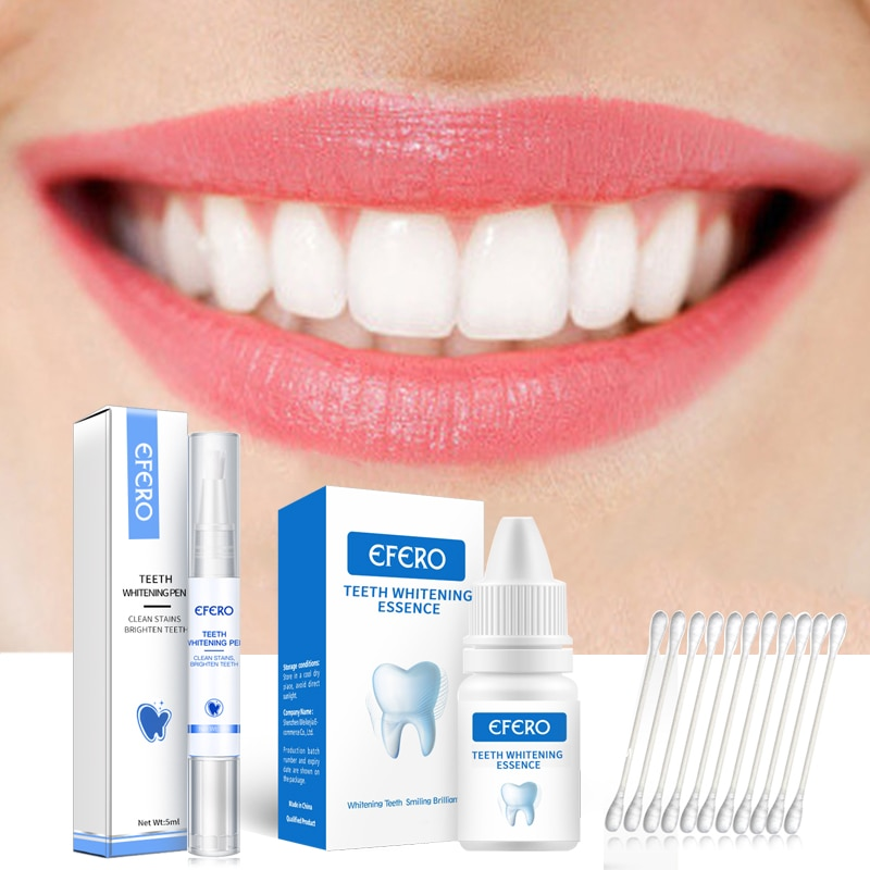 EFERO Teeth Whitening Essence Removes Plaque Stains Tooth Bleaching Cleaning Serum White Teeth Oral Hygiene Tooth Whitening Pen