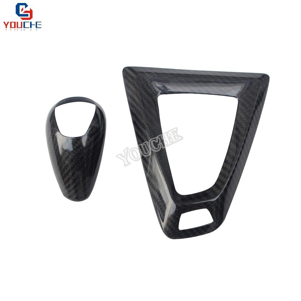 Carbon Fiber Gear Shift Knob Cover Handle Cover Basement for BMW M2 F87 M3 F80 M4 F82 F83 M5 M6 X5M