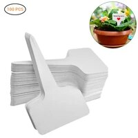plant lable reusable pvc garden insert waterproof t type tree marker sorting sign tag ticket plastic writing board plug 100 pcs