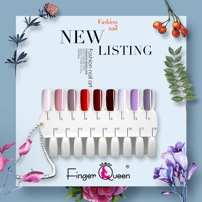 24/36/consejos estantes de esmalte de Gel paleta de colores soporte de tarjeta de Metal Cadena de doble cara muestras de entrenamiento de uñas la muestra de la mano de pie