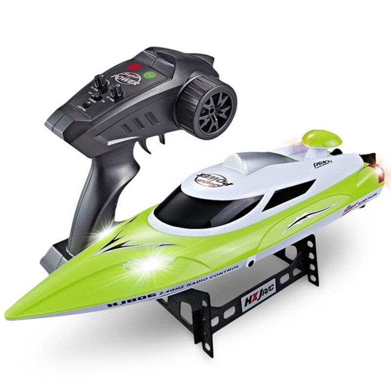 Hj806 2.4g 35km/h de alta velocidade barco controle remoto velocidade barco crianças brinquedo água velocidade barco verão sistema água refrigeração