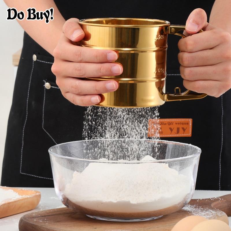 1 Pcs Handheld Stainless Steel Flour Sieve Powder Mesh Household   Stainless Steel Hand Screened Sugar Mesh Sieve Baking