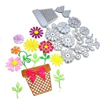 1pc flowerpot bow metal cutting dies stencil scrapbooking embossing craft stamps and cutdies