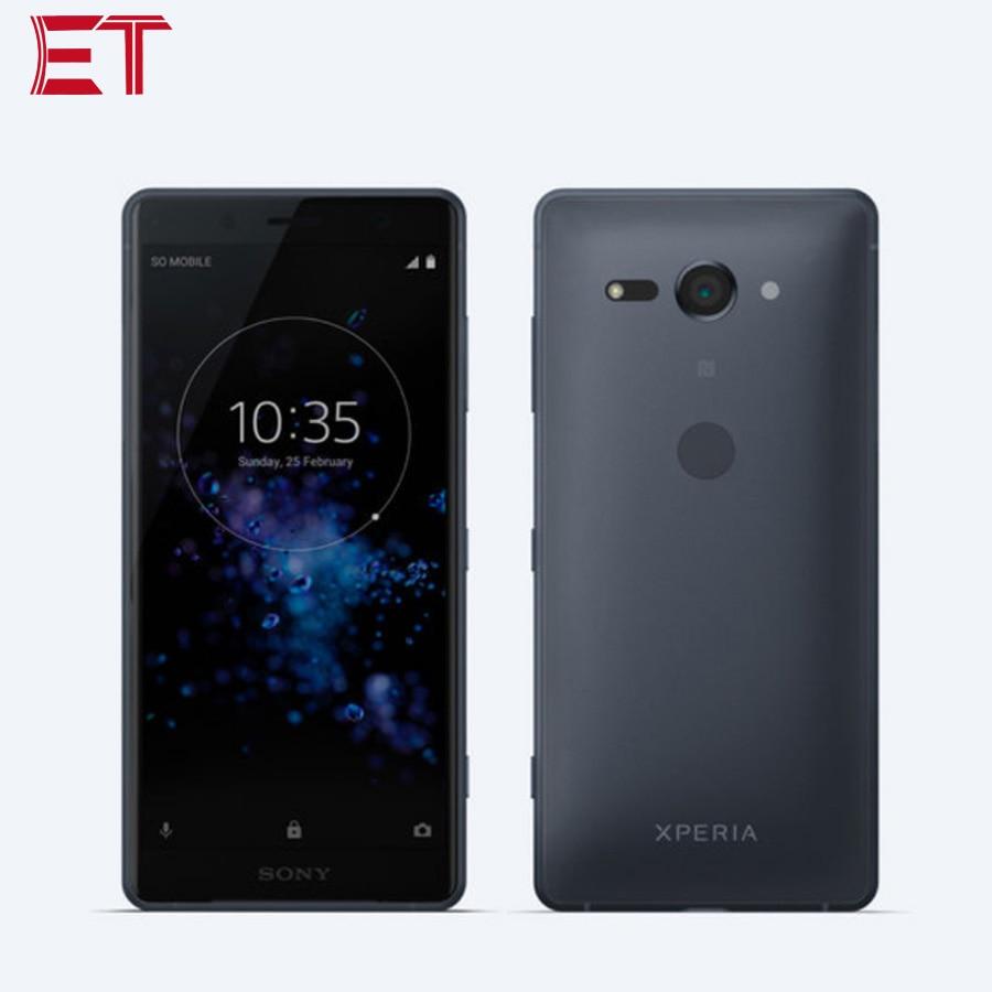 "Sony smartphone xperia xz2 compact h8324, celular 5.0 ""1080x2160p 4 gb ram 64 gb snapdragon 845 telefone android, rom 19mp dual sim nfc"