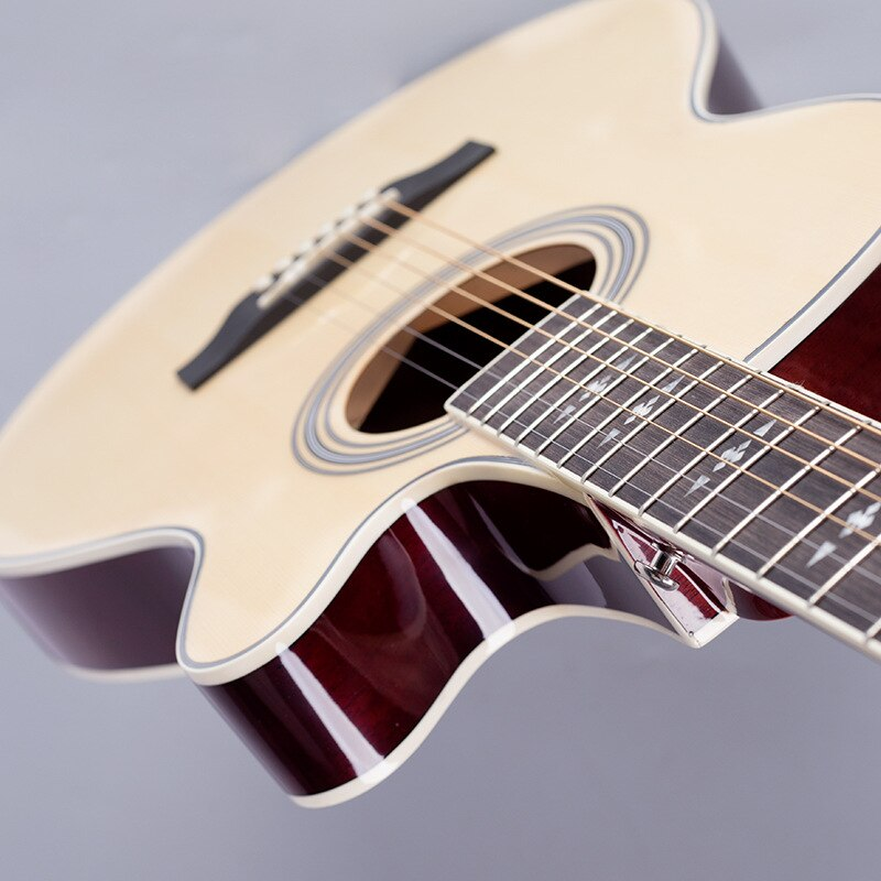 Hollow Body Guitar Thin Closed Knob Sapele Picea Asperata Instrument Guitar Acoustic Bass Guitarra Acustica Playing Tools EH50G enlarge
