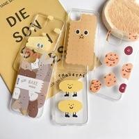cookie bread potatoes cute phone case for apple iphone 12 11 pro max xr xs max 7 plus 8 6 plus 12 mini 7plus case silicone cover