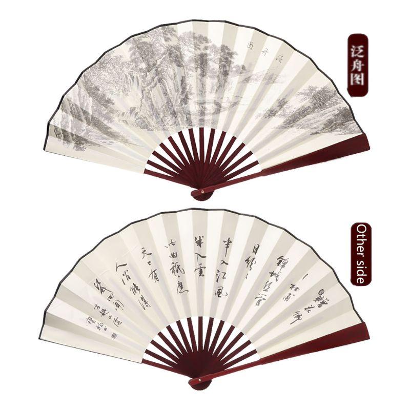 Ventilador de seda dobrável à mão do estilo chinês para o evento do casamento e fontes da festa alta qualidade e brandnew