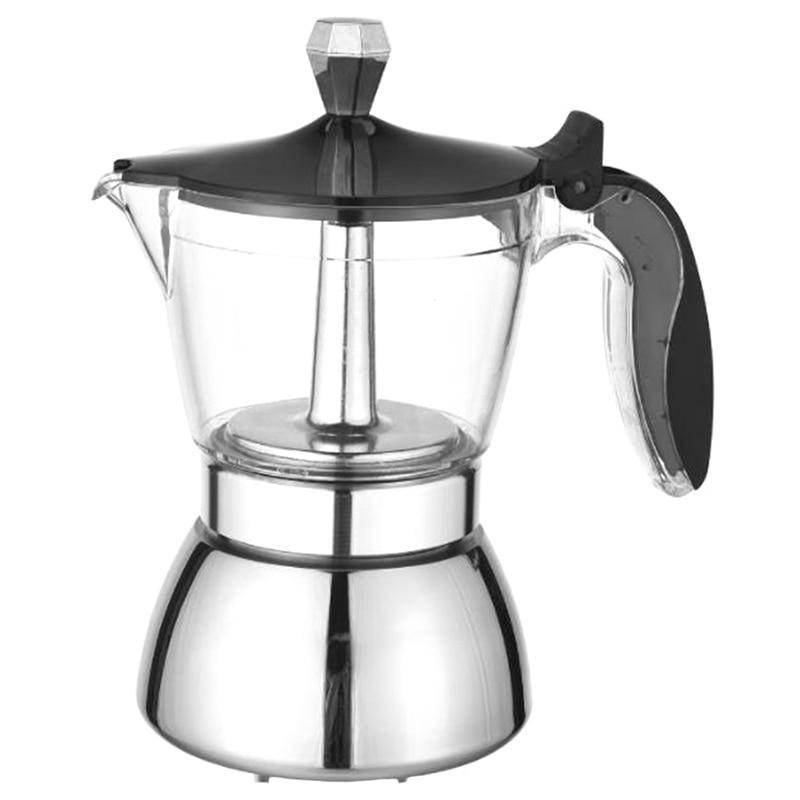 AC86-براد لصنع الموكا ، 4 كوب ماكينة الاسبريسو-كوبان القهوة آلة Percolator قسط موكا الايطالية ماكينة صنع قهوة اسبريسو