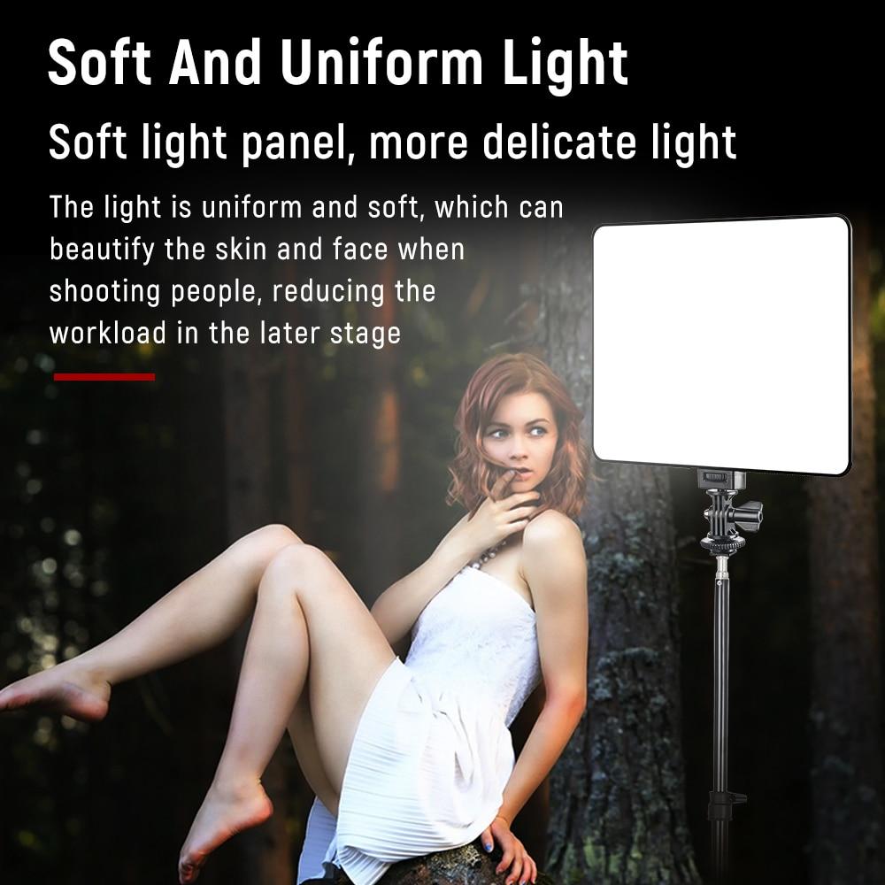 VILROX VL-200T Portable LED Video Light 3300k-5600K Photographic Lighting Studio Bi-color Lamp For YouTube TikTok Live Stream enlarge