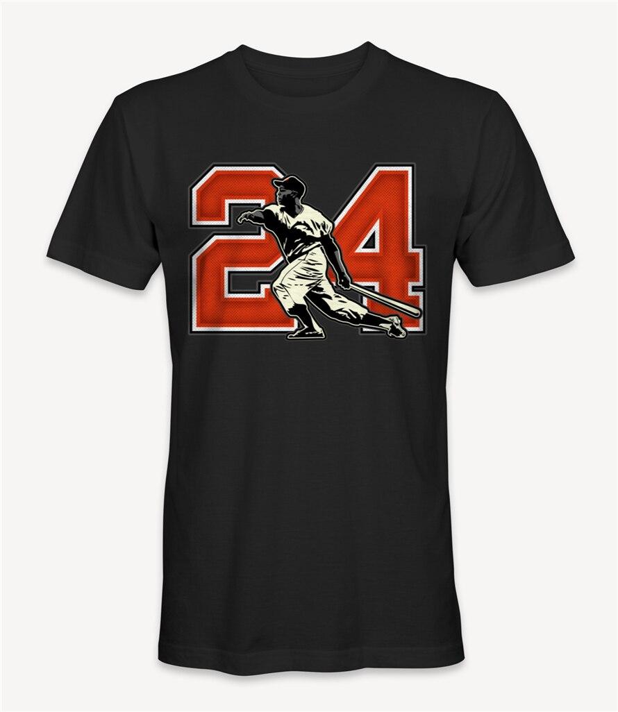 Willie Mays Baseball Player T-Shirt Retro O Neck Tee Shirt