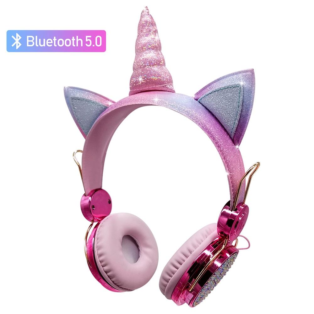Unicorn Headset Bluetooth 5.0 Headset with Microphone Headset Laptop Phone Headset PC MP3 Tablet PC Audio Device Christmas gift