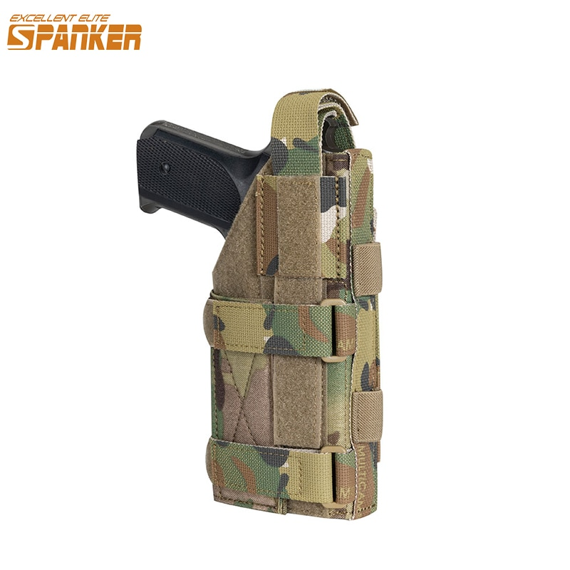 Excelente ELITE SPANKER pistolera táctica Universal pistola caza militar Molle pistolera pistola ajustable bolsa de pistola