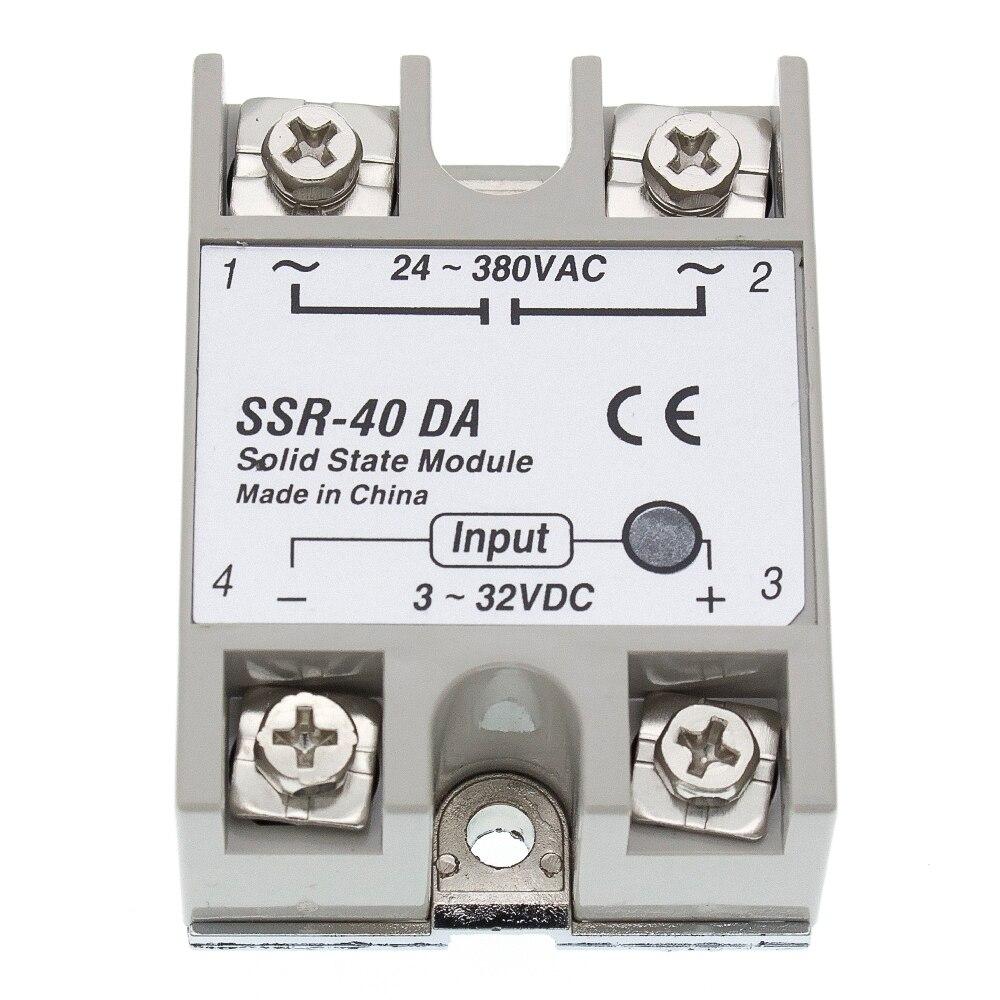 1PCS SSR-40 SSR-40DA Hersteller 40A ssr relais, eingang 3-32VDC ausgang 24-380VAC