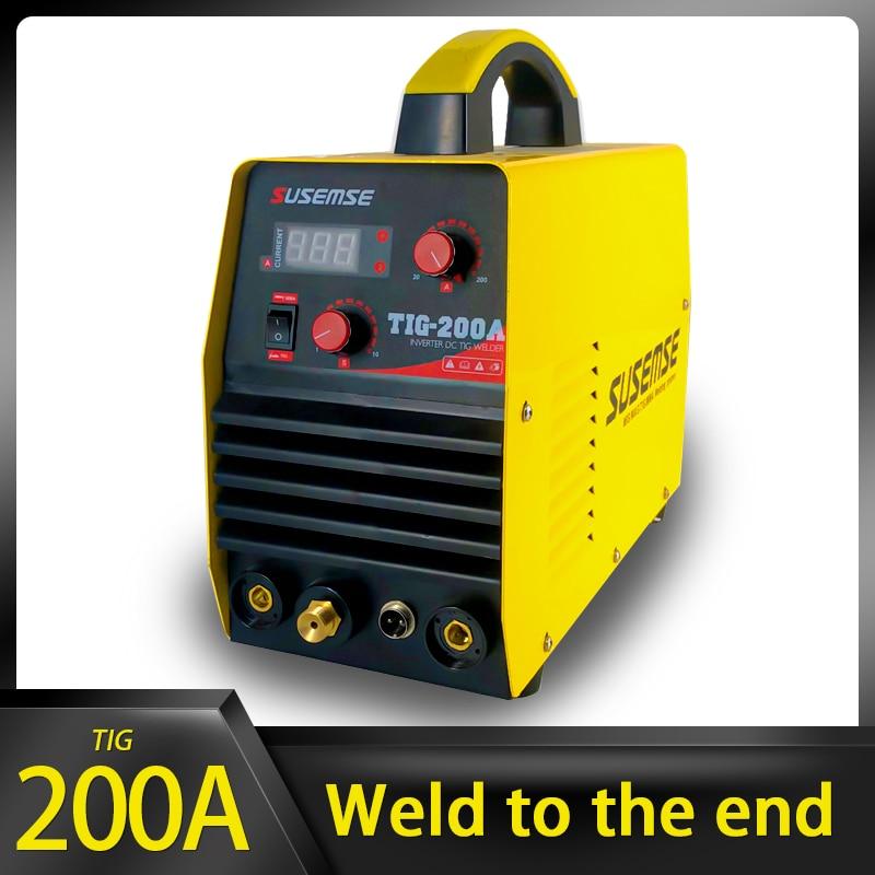 TOSENSE TIG Welder TIG200A 110/220V TIG Welding Machine DC Tig/Stick IGBT Inverter Welder TIG Welding Machine 200A LCD Display