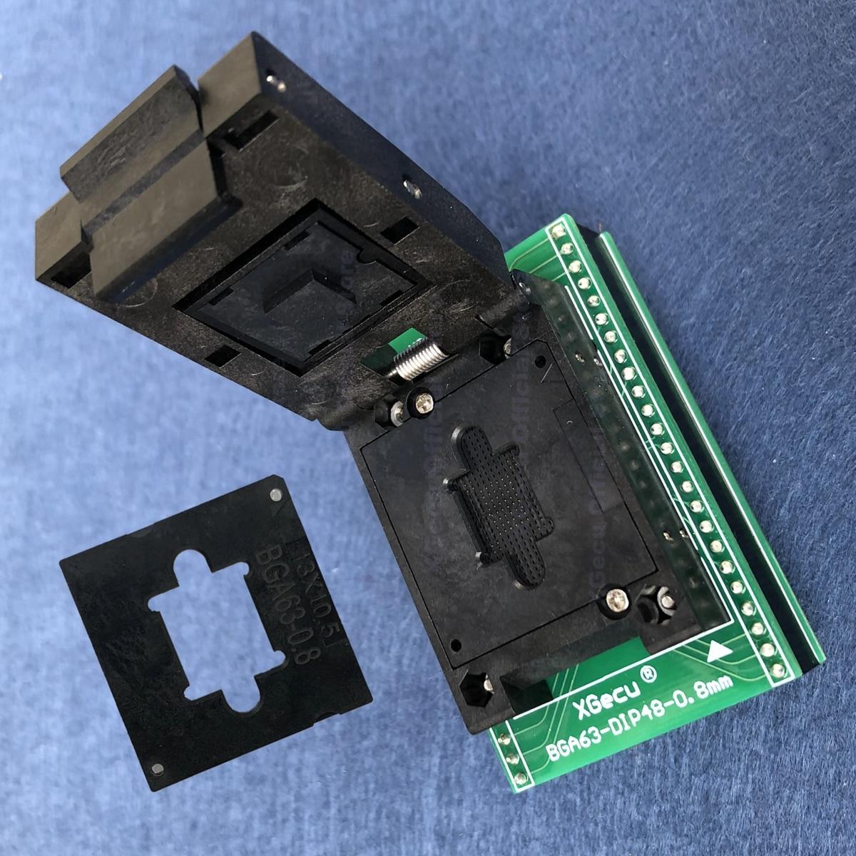 BGA63-DIP48 adapter BGA63-DIP48-0.8mm XG-BGA63-0.8 tylko dla programatora XGecu T56