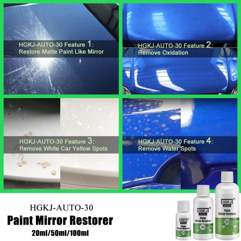 HGKJ 20/50ML Paint Mirror Restorer Automotive Paint Mirror Reducing Agent Scratch Repair Car Polish