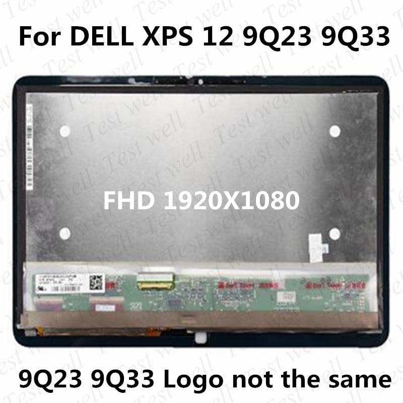 12.5 ''FHD 1920*1080 لاستبدال ديل XPS 12 9Q23 9Q33 LP125WF1-SPA2 A3 LCD الجمعية محول الأرقام بشاشة تعمل بلمس لوحة مع الإطار