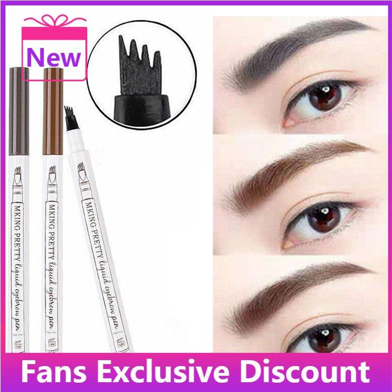2021 New 1Pc Women Makeup Sketch Liquid Eyebrow Pencil  Waterproof Brown Eye Brow Tattoo Dye Tint Pe