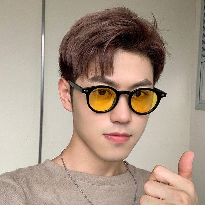 New Round Gradient Sunglasses Men Women Brand Designer Sun Glasses for Male Female Stylish Colorful