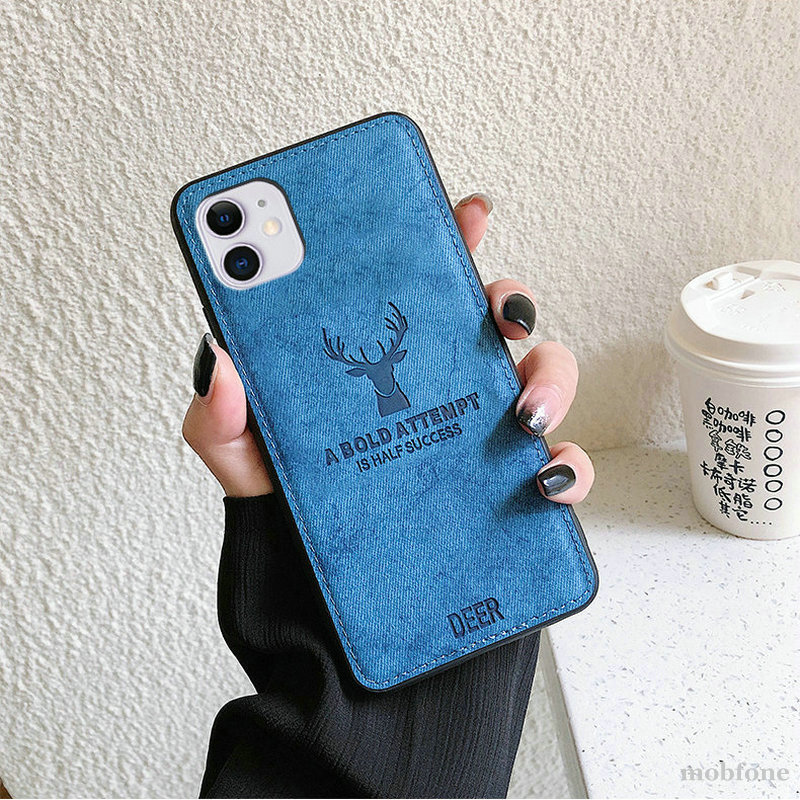 3D Deer Patterned Phone Case For OnePlus 9 OnePlus9 Pro 8T Luxury Cloth PU Leather shockproof Back C
