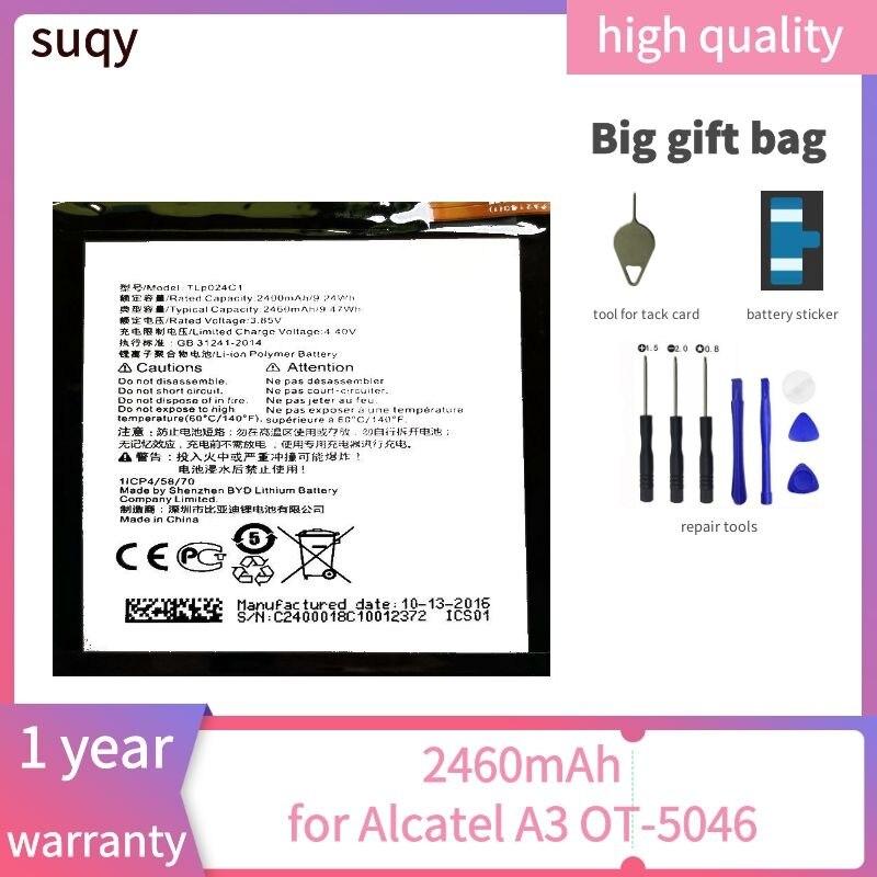 Suqy baterias para alcatel a3 OT-5046/brilho lite OT-5080 5080x bateria para telefone para um toque OT-5046D OT-5046Y 5046d bateria