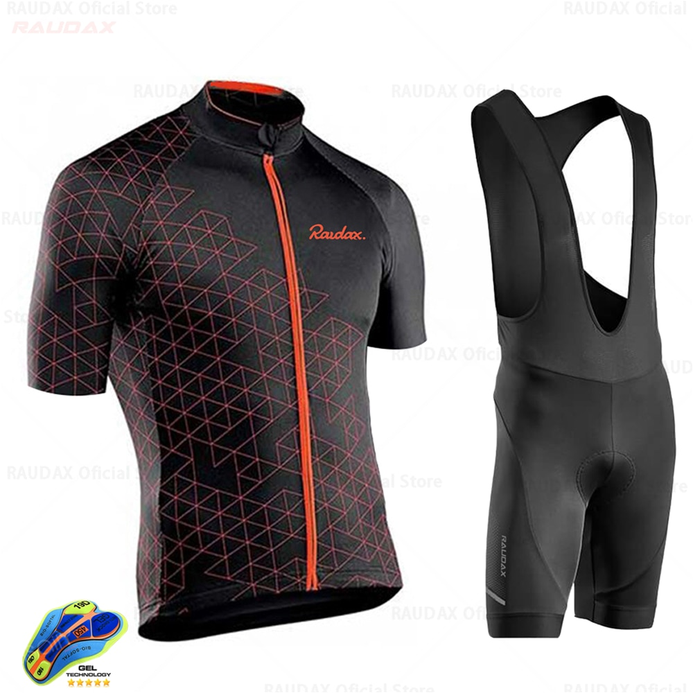Raudax Pro Team Cycling Clothing /Road Bike Wear Racing Clothes Quick Dry Mens Jersey Set Ropa Ciclismo Maillot