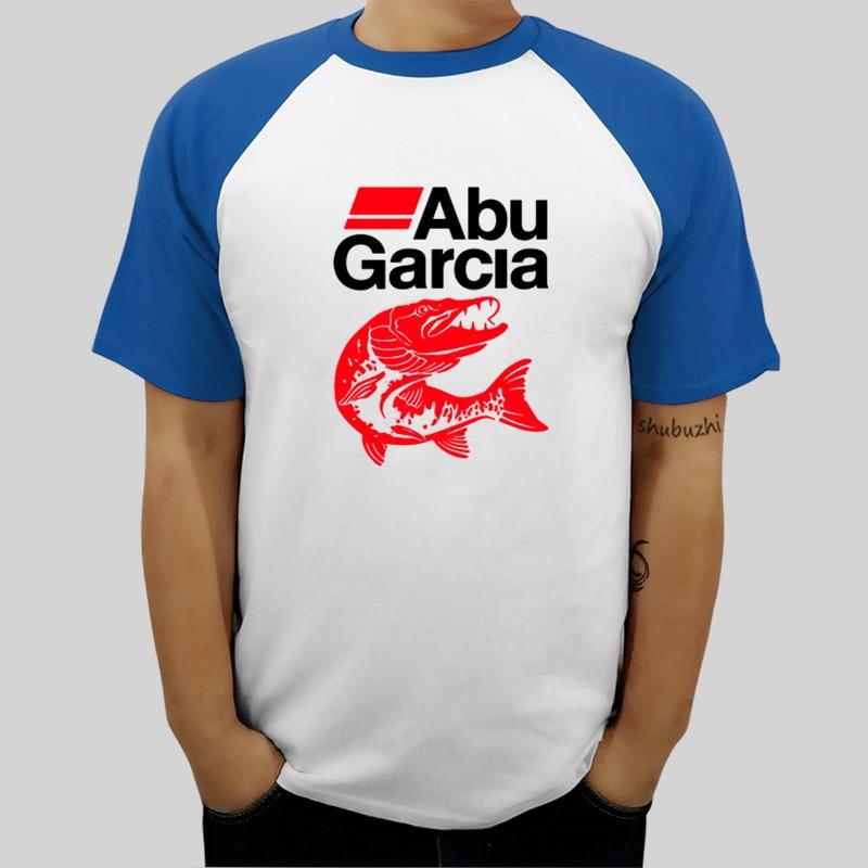 Camiseta personalizada en línea para hombre, cuello redondo, nueva camiseta raglán de algodón con peces de ABU ciones, pantalón corto casual de manga, camiseta de marca a la moda 100%