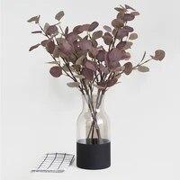 Plantes artificielles eoliennes nordiques 69cm  bouquet de feuilles deucalyptus  argent  decoration de mariage  maison  Arrangement floral  accessoires de photographie gris vert