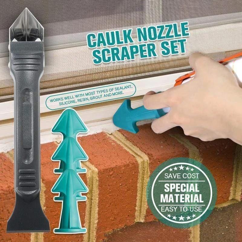 4pcs set remover caulk finisher sealant صاف کننده صاف کن دوغاب دوغاب مجموعه ای از نازل چسب تمیز کردن کاشی ابزار خاک اسپاتول بیل چسب