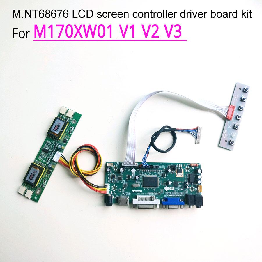 شاشة تحكم M170XW01 V1 V2 V3 MNT68676, VGA + DVI 17