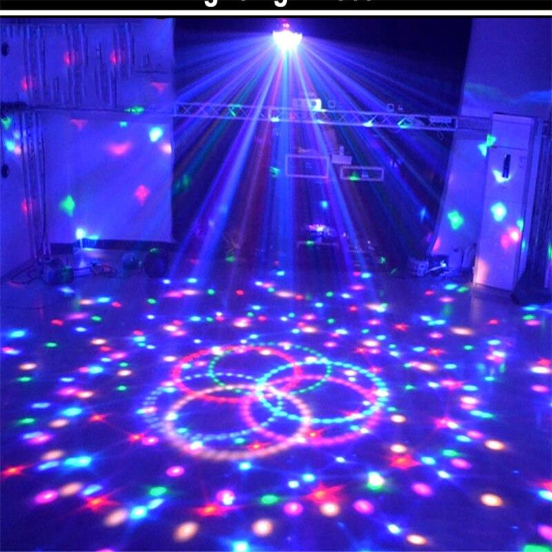 6w 3 led magic stage light crystal ball sound control night lamp hanging dj club pub bar disco wedding party show lighting Stage Lamp Led Disco Light Laser 9 Colors 21 Mode Disco Laser Light Party Lights Sound Control Crystal Magic Ball Led Stage Lamp