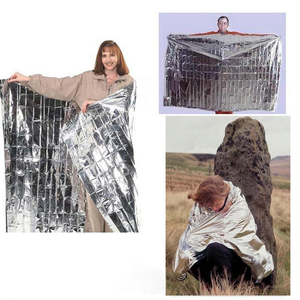Paquete de 10 nuevas mantas térmicas de rescate de emergencia a prueba de agua para exteriores, cortinas de rescate de primeros auxilios, cortinas militares BlanketMG4