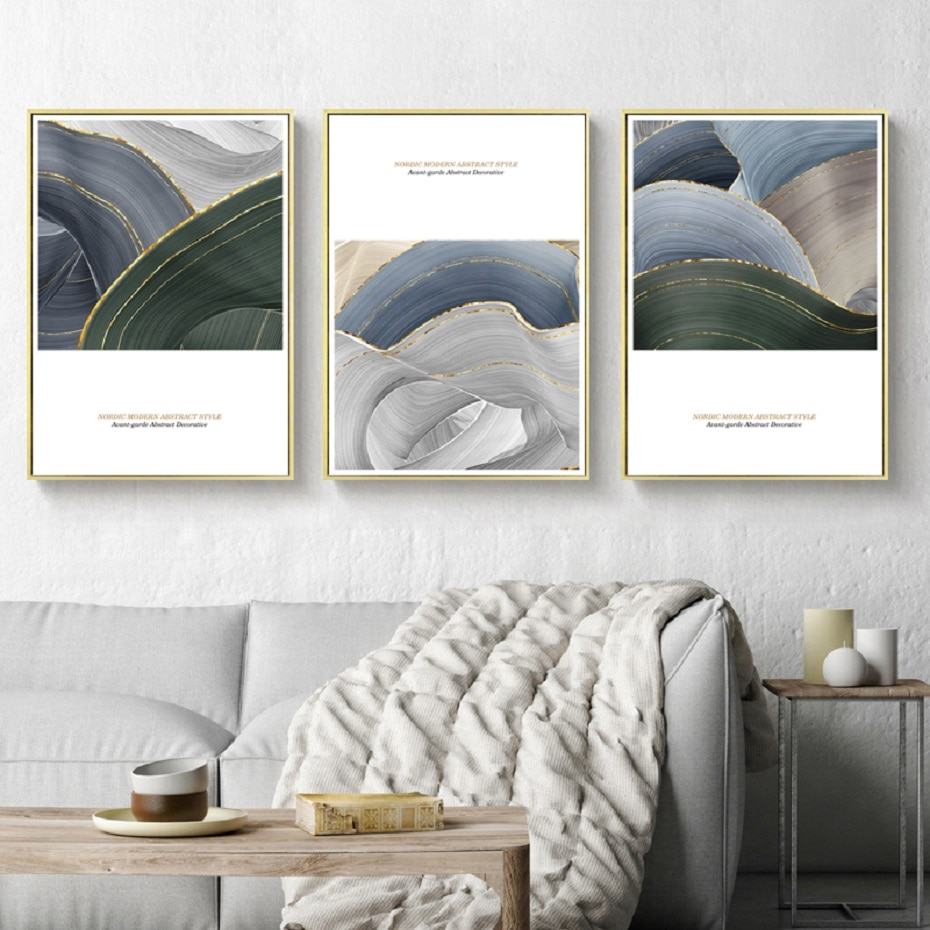 3 Pieces Modern Abstract Canvas Prints Oil Canvas Paintings Wall Art Posters Wall Prints and Posters for Living Room Home Decor wall art abstract canvas printing modern posters gorgeous lotus leaf lotus root in lake decorative paintings for home decoration