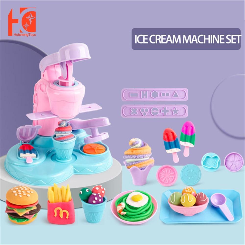 Детская машинка для мороженого «сделай сам», цветной глиняный игровой домик, набор игрушек, пазл, детские игрушки, развивающие игрушки для д...