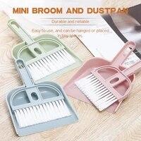 pet cleaning brush mini desktop sweep cleaning brushdustpan plastic nylon table corner keyboard clean 2pcs clean feces supplies
