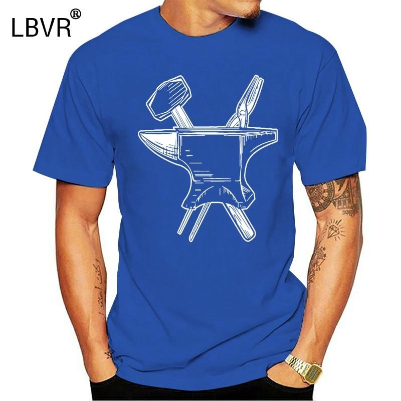 Blacksmith Tools Premium Tee Cheap Sale 100 % Cotton Top Tee Short Sleeve Cotton T Shirts Men Adult Slim Fit T Shirt  031479