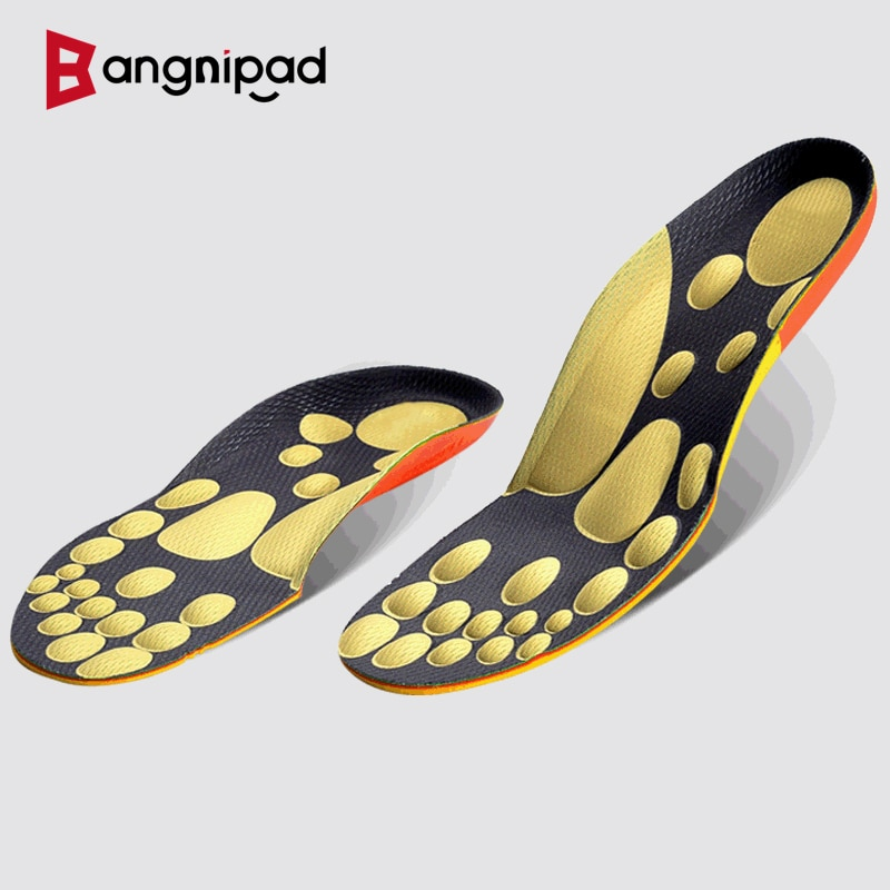 BANGNIPAD 4D Massage Insoles Healthy Walking Shock Absorption Arch Support Shoes Pad Relieve Foot Pain Comfortable for Men Women
