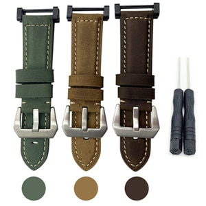 HQ Crazy Horse Genuine Leather Watch Band Strap For Suunto Core Series Essential WatchBand And Adapter And Screwdiver