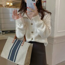 Knitted Cardigan Early Autumn Top Design Temperament Knitwear Autumn 2021 New French Loose Long Slee