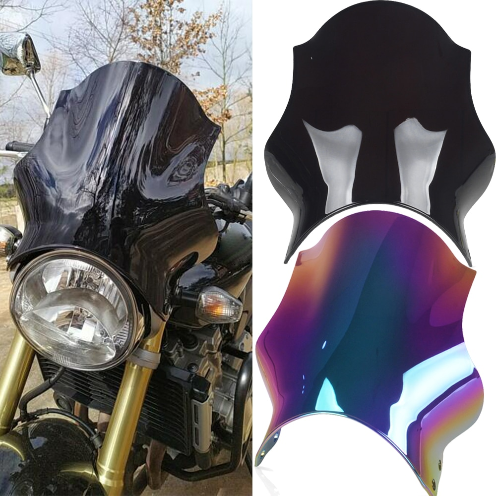 For Yamaha VMAX1200 V-MAX Big Diavel Honda CB400 CB600 CB750 CB900 CB919 CB250 Hornet Motorcycle windshield Windscreen Deflector