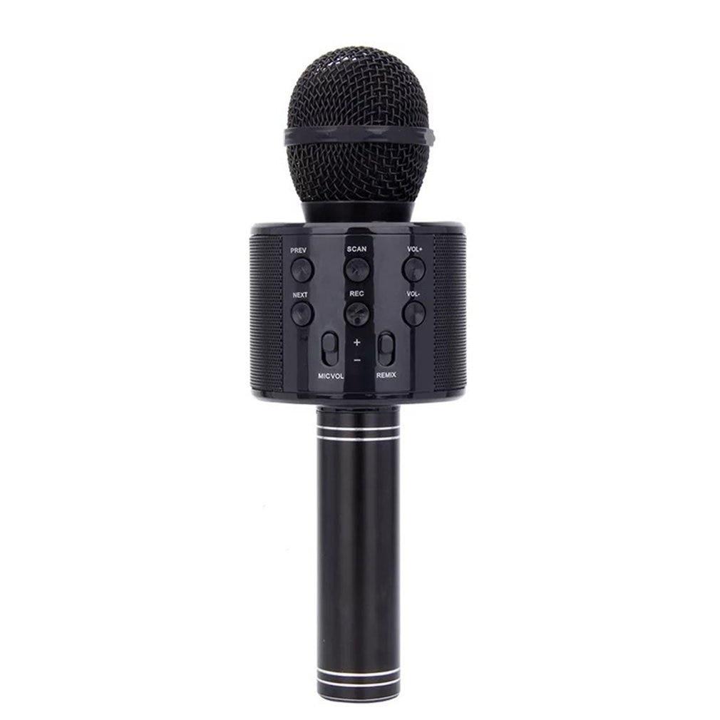 Micrófono de Karaoke 4 en 1 inalámbrico, reproductor de karaoke portátil con 12 efectos de sonido para casa, KTV/fiesta