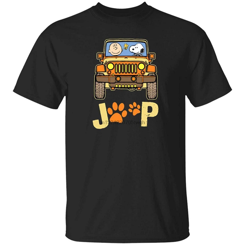 Charlie Brown a-n-d S-n-o o p-y J-e-e-p paw pies koszula przez Tshirt
