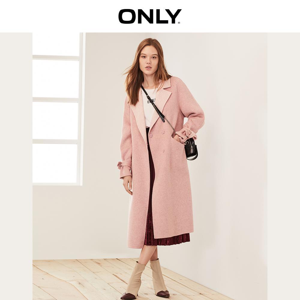 Apenas outono inverno feminino outono casaco de lã dupla face   11934s508