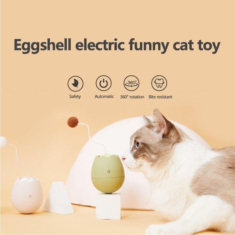 Pelota juguete Para gato enrollable automático, varilla Para Mascotas eléctrica interactiva, Productos...