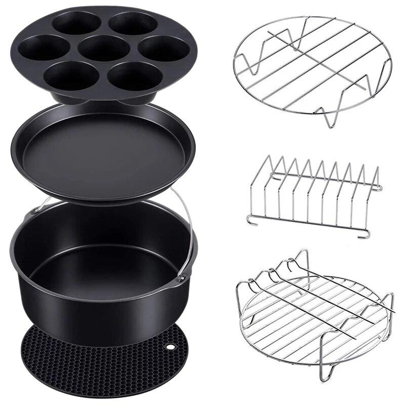 7 مجموعة قدر الضغط ، باخرة و مقلاة الهواء اكسسوارات خبز متوافق مع نينجا فودي 5 & 6.5 & 8 Qt OP101 ، OP301 ، OP302